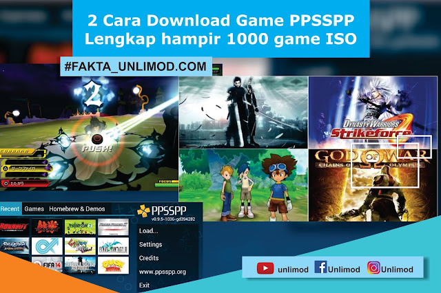 2 Cara Download Game PPSSPP