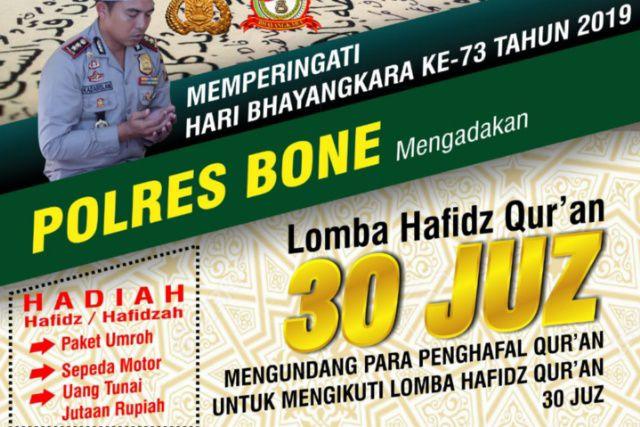 Gelar Lomba Hafidz Al-Qur'an, Polres Siapkan Hadiah Umroh