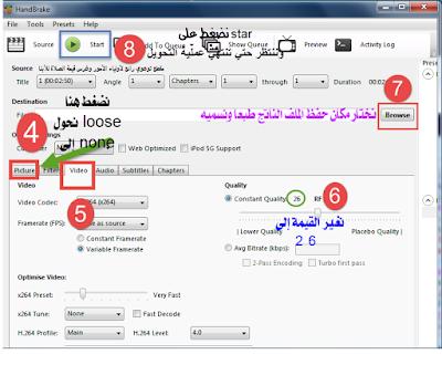 شرح برنامج HandBrake لضغط وتقليل حجم الفيديو