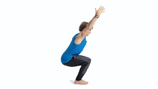 Bài tập yoga đơn giản Kursiasana ( Tứ thế ngồi trên ghế )