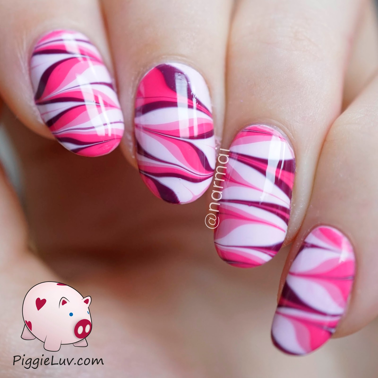 Marble Nail Art: PiggieLuv: How NOT To Do Water Marble Nail Art