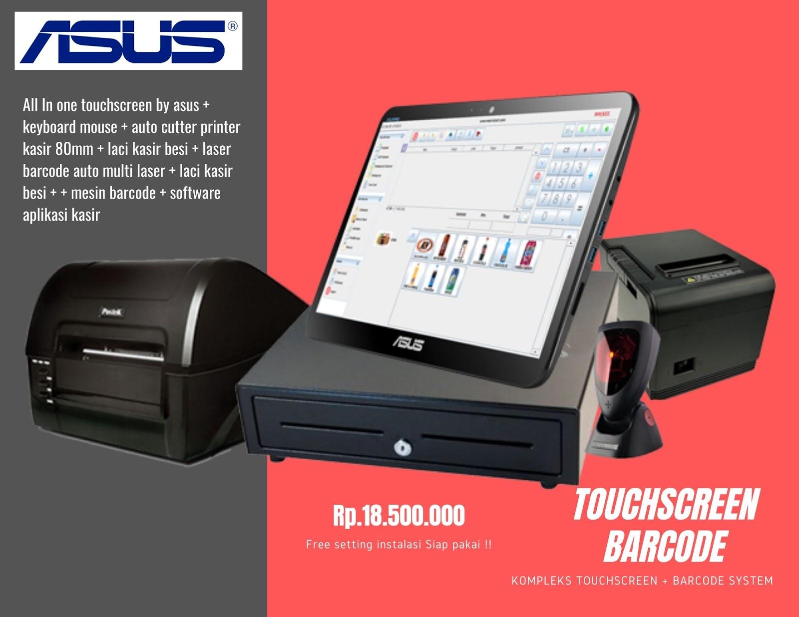 touchscreen barcode lengkap