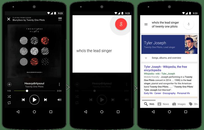 Artık Google Now çalışan uygulamadaki verileri okuyarak daha zekice cevaplar veriyor
