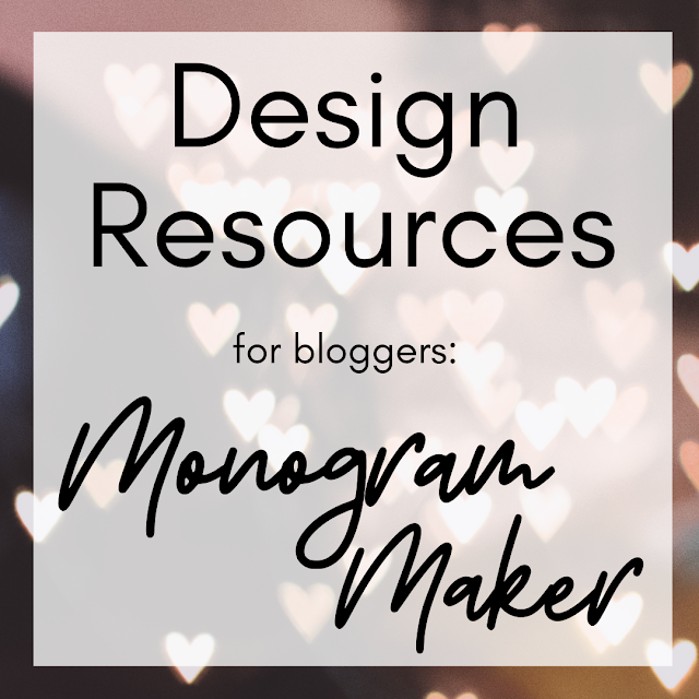 Online Design Resources | Monogram Maker Lovelaughslipstick Blog