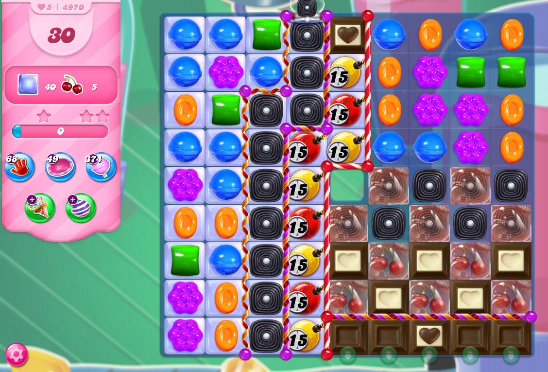 Candy Crush Saga level 4970