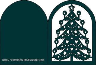 scherenschnitte Christmas card