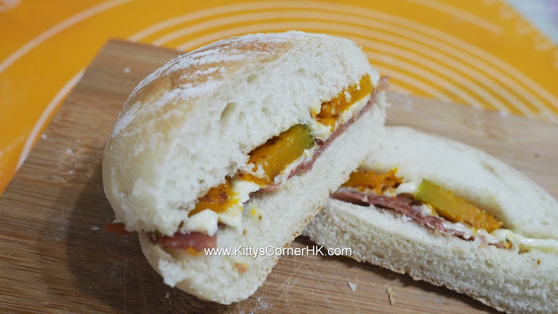 Hamburger with Pumpkin & Parma Ham 南瓜巴馬火腿漢堡 自家烘焙 食譜 home baking recipes