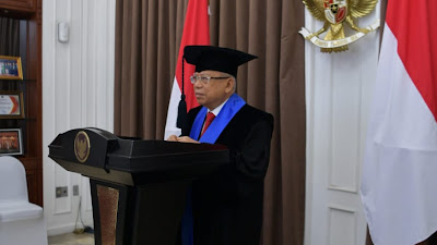 Terima Gelar Doctor HC, Wapres KH Ma'ruf Amin  Genjot Ekonomi dan Keuangan Syariah