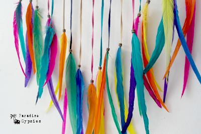 Paradise Gypsies Rainbow Feather Headdress Warbonnet Kids Adult Festival Love Fun Costume