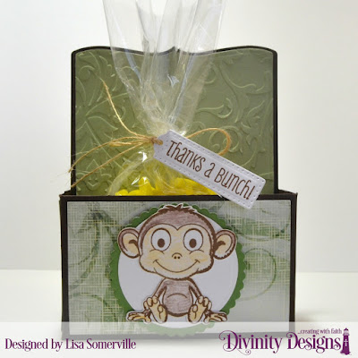Stamp Set: North Coast Creations Thanks a Bunch  Custom Dies: Test Tube Trio, Circles, Scalloped Circles, Monkey & Bananas  Embossing Folder: Flourishes  Paper Collection: Christmas 2018  Test Tubes: Large