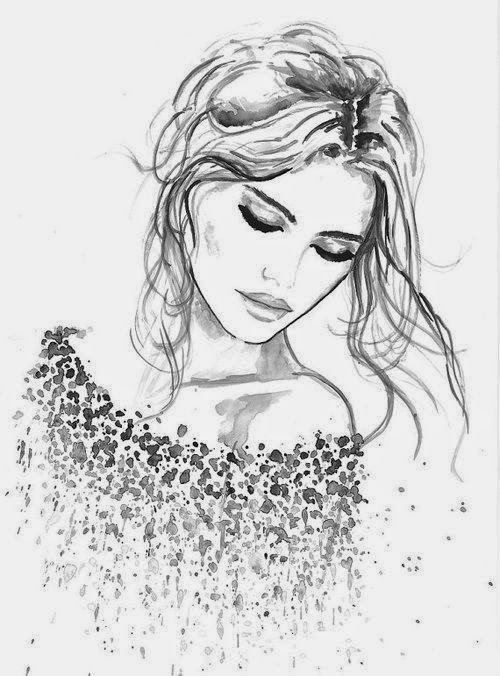 Wish I could sketch. beautiful fashion illustration