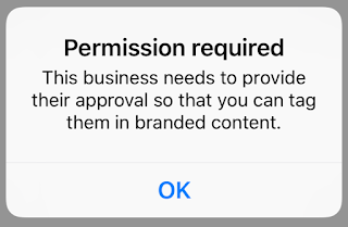 permission required to tag a brand on instagram