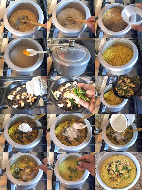 images of Khara Pongal Recipe / Karnataka Style Khara Pongal / Karnataka Style Ven Pongal