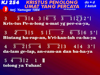 Lirik dan Not Kidung Jemaat 254 Kristus, Penolong Umat Yang Percaya