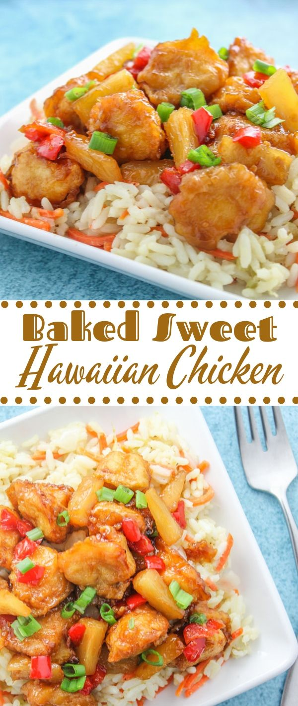 Baked Sweet Hawaiian Chicken #Baked #Sweet #Hawaiian #Chicken Chicken Recipes Healthy, Chicken Recipes Easy, Chicken Recipes Baked, Chicken Recipes 21 Day Fix,