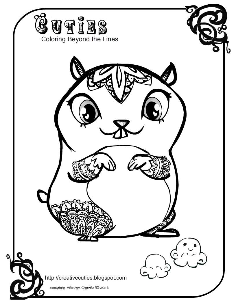 creative cuties  hampster coloring page