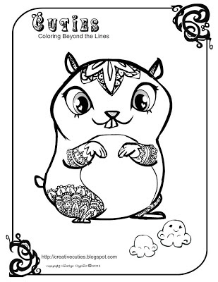 Creative Cuties: Hampster coloring page