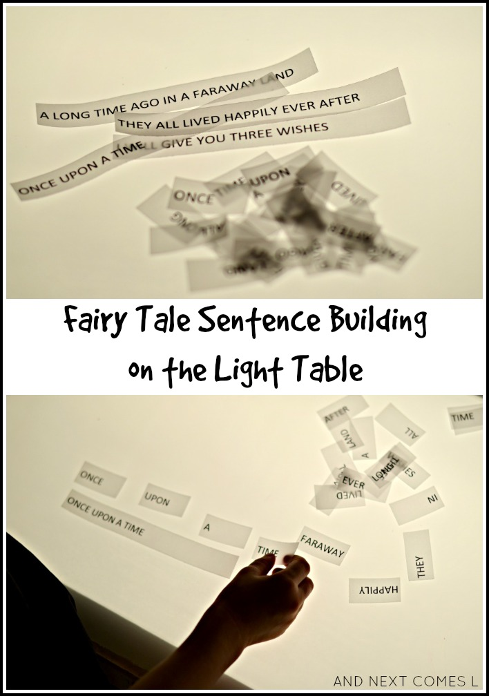 Fairy Tale Sentence Building On The Light Table Light