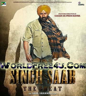 Poster Of Bollywood Movie Singh Saab the Great (2013) 300MB Compressed Small Size Pc Movie Free Download worldfree4u.com