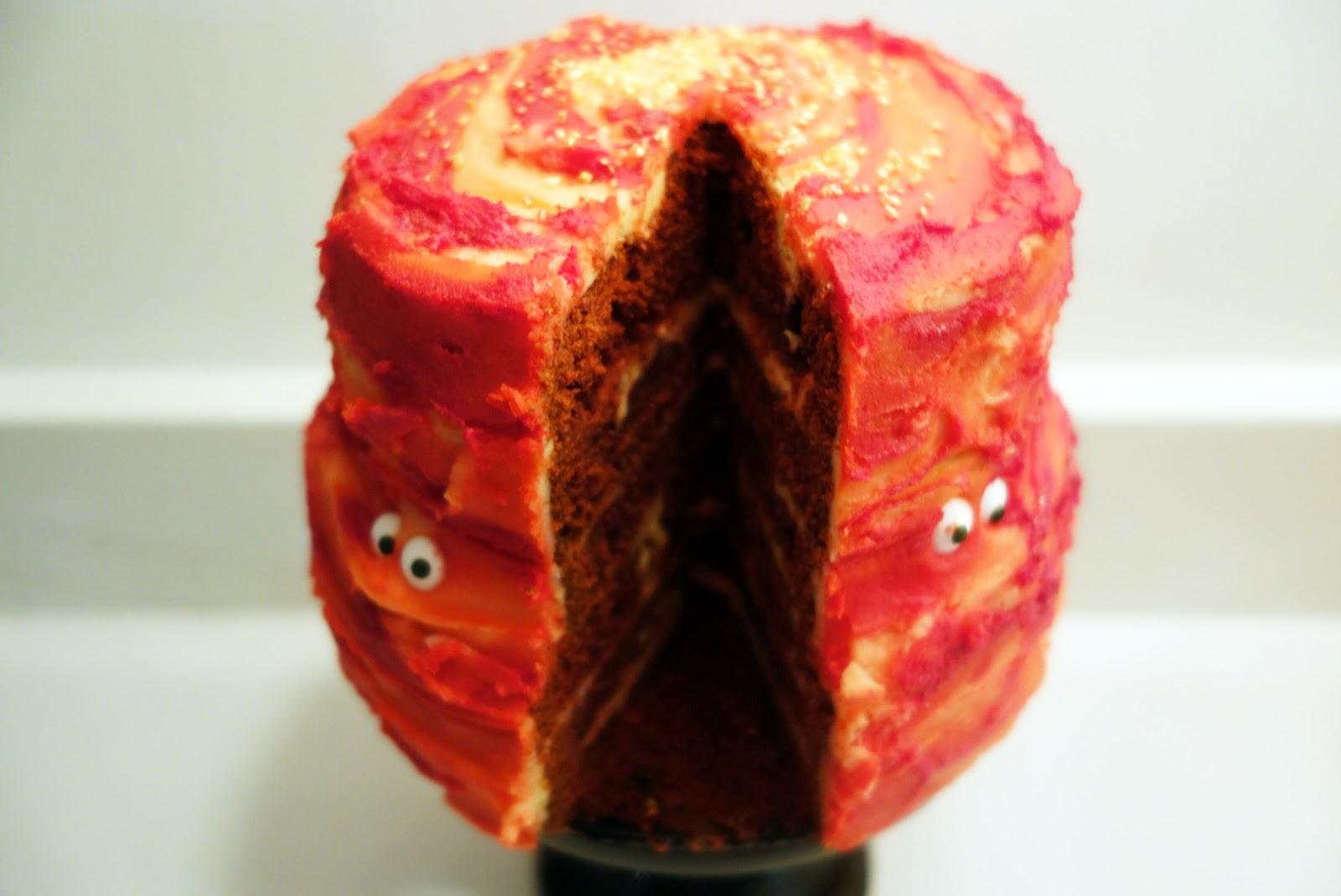 The Rich Gypsy: halloween red velvet cake