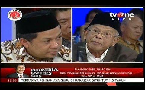 AM Fatwa Ngamuk Mau Lempar Mic Ke Fahri Hamzah Lantaran Bilang Jokowi & KPK Sinting