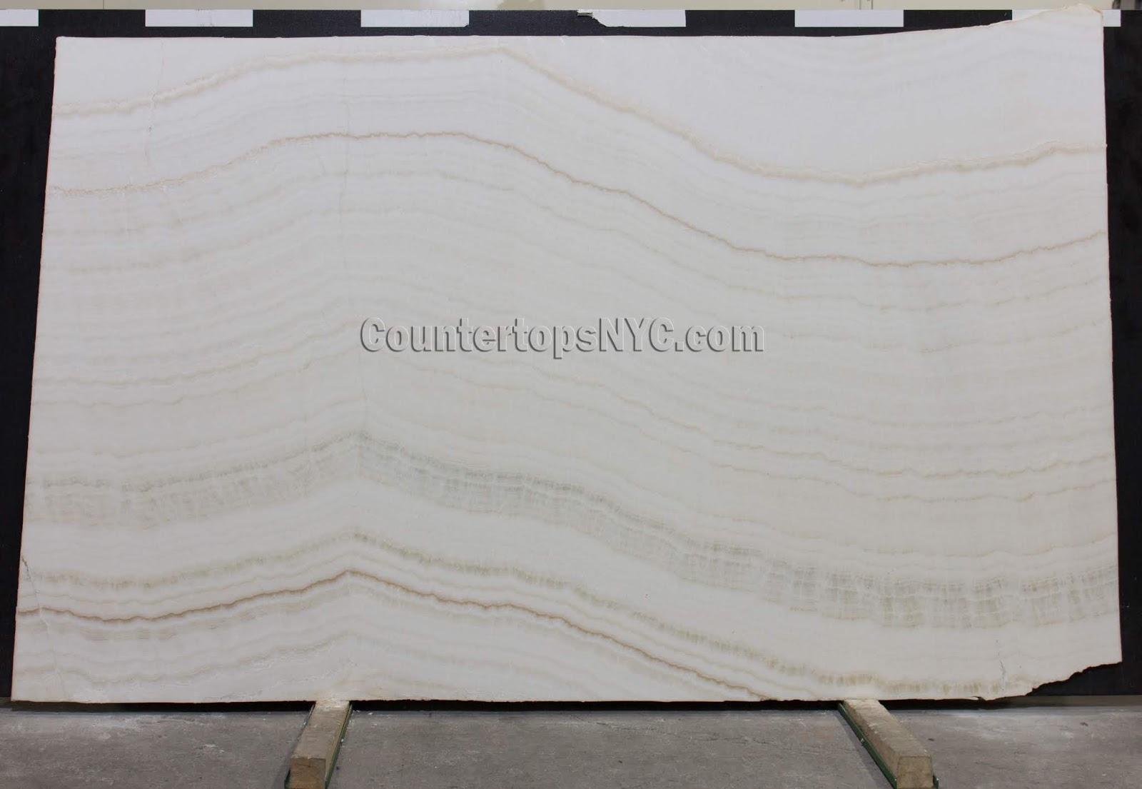 White Onyx Ivory Marble Slabs NYC