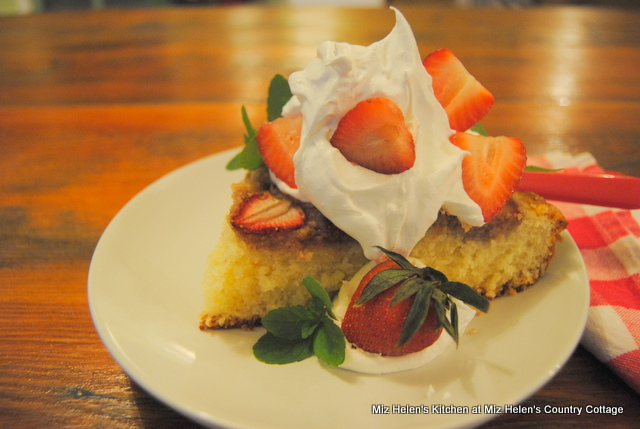 Strawberry Skillet Cake at Miz Helen's Country Cottage