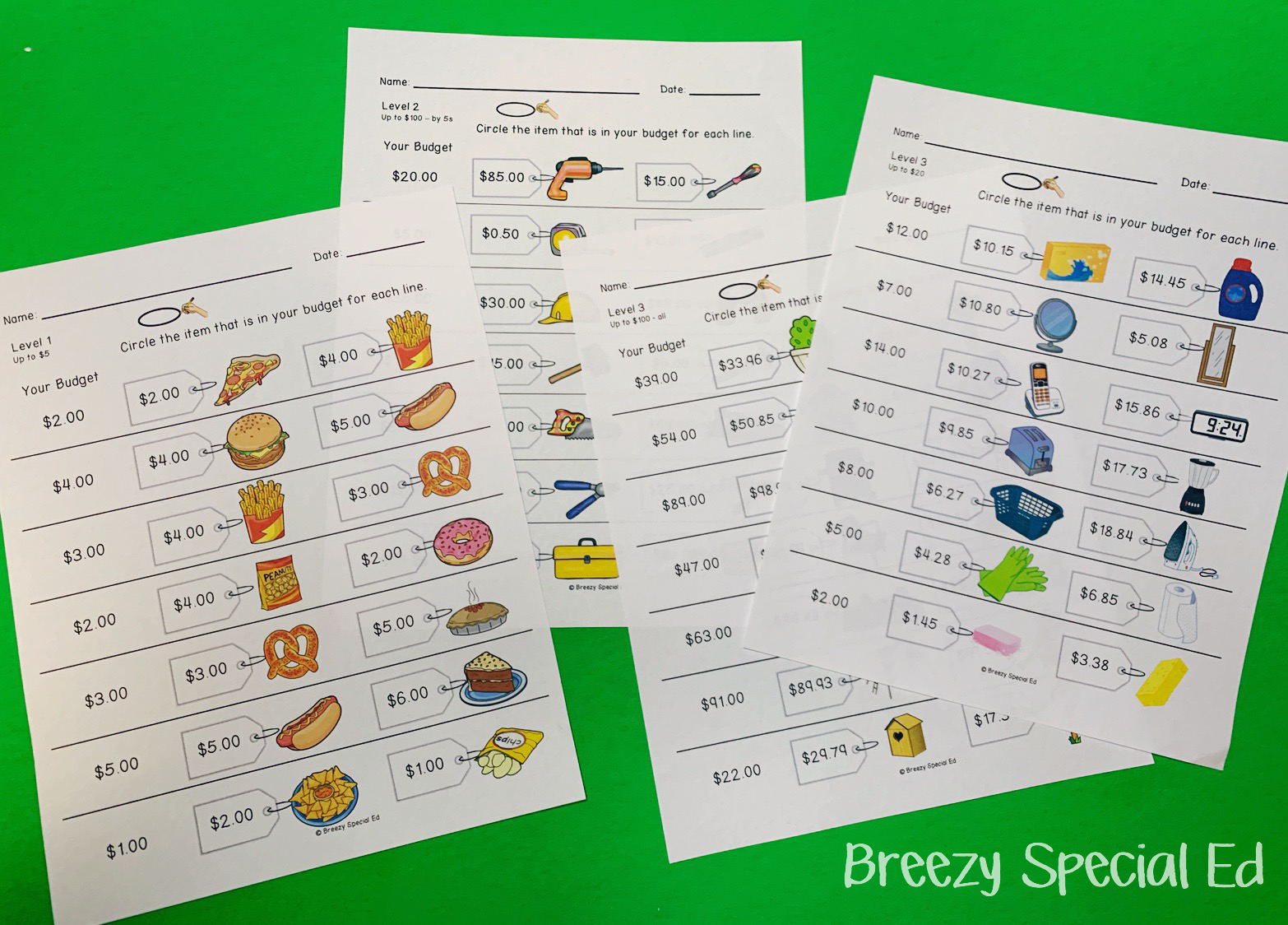 small resolution of Teaching Students How to Budget for a Simple Shopping Trip - Breezy Special  Ed