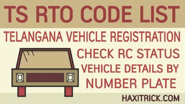 Telangana (TS) Vehicle Registration RTO Code