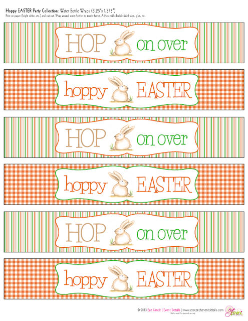 hop on over, hoppy easter, easter party pack, gingham print