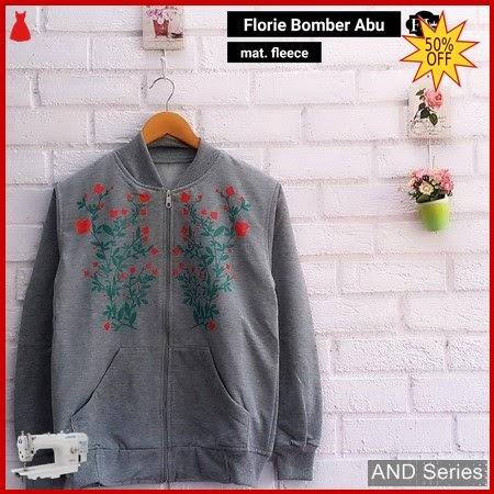 AND252 Jaket Wanita Florie Bomber Grey Jaket BMGShop