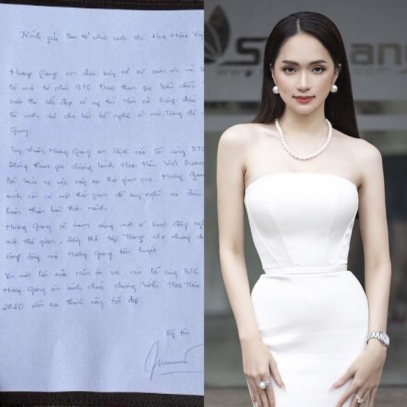 Hoa hậu chuyển giới Hương Giang rút khỏi Hoa hậu Việt Nam 2020