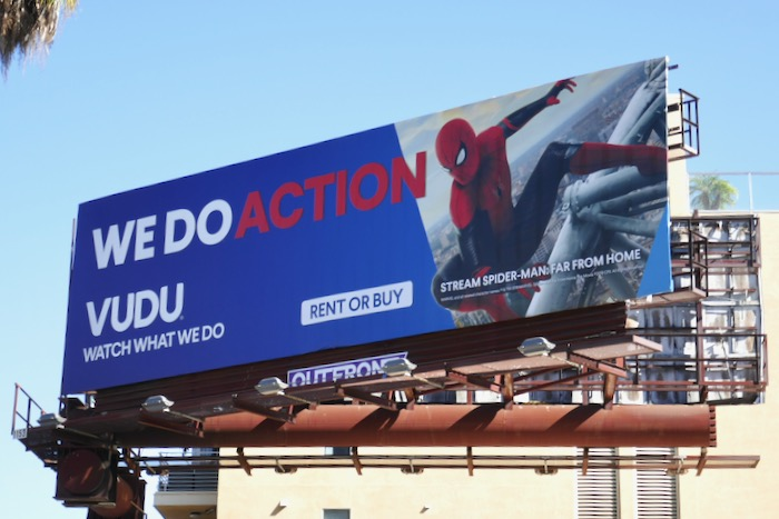 Vudu SpiderMan Far From Home billboard