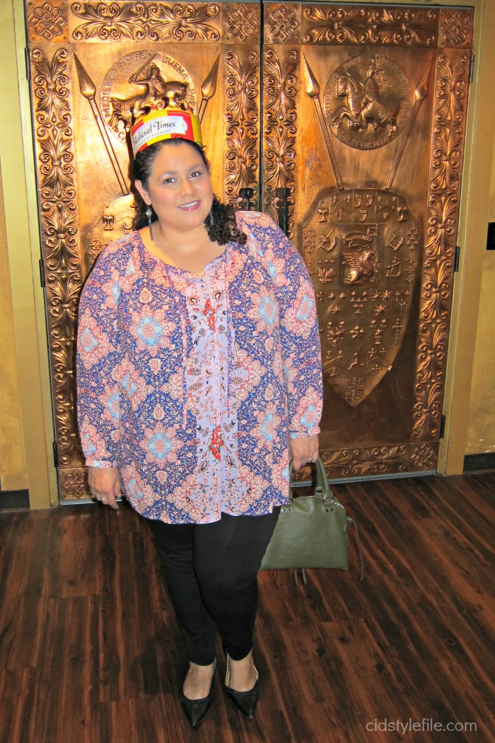 medieval times, buena park, date night, lucky brand plus, untamed style, weekly linkup, style over 40, ootd, california blogger, latina style