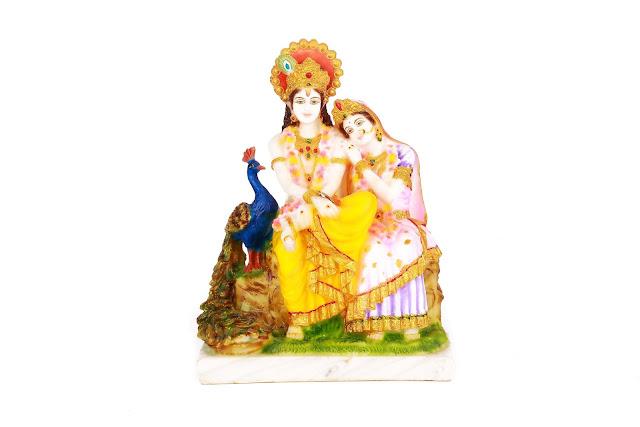 Krishna Radha in Marble- INR 3400