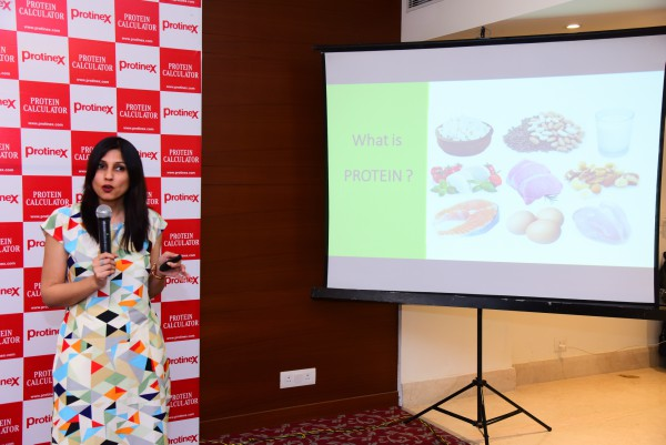 nutritionist and health writer Kavita Devgan at the Protinex event