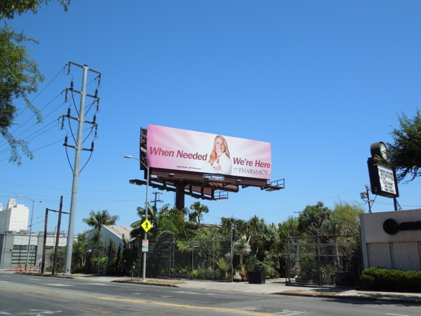 AHF Pharmacy pink billboard