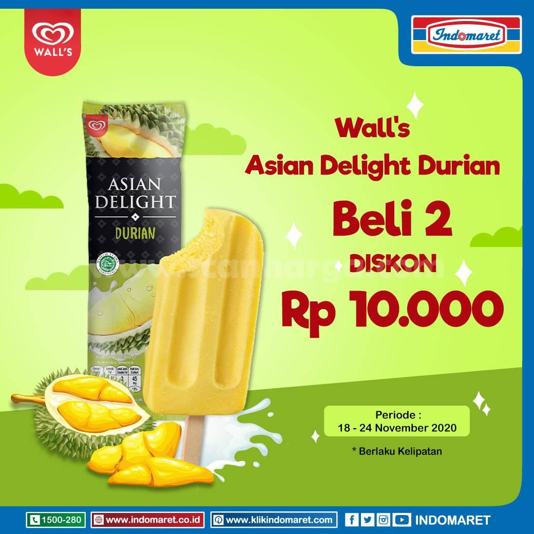 Indomaret Promo Harga Spesial WALL'S Asian Delight Durian Beli 2 Diskon Rp10.000