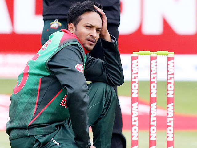 ICC has banned Bangladesh captain Shakib Al Hasan from all cricket for two years