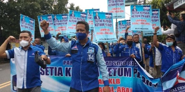 Tolak KLB Abal-abal, DPC Partai Demokrat Se-Solo Raya Gelar Aksi Longmarch