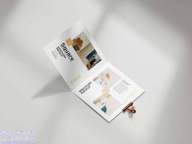 folded square brochure mockup 2