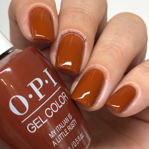 opi my italian is a little rusty gel color muse of milan fall 2020