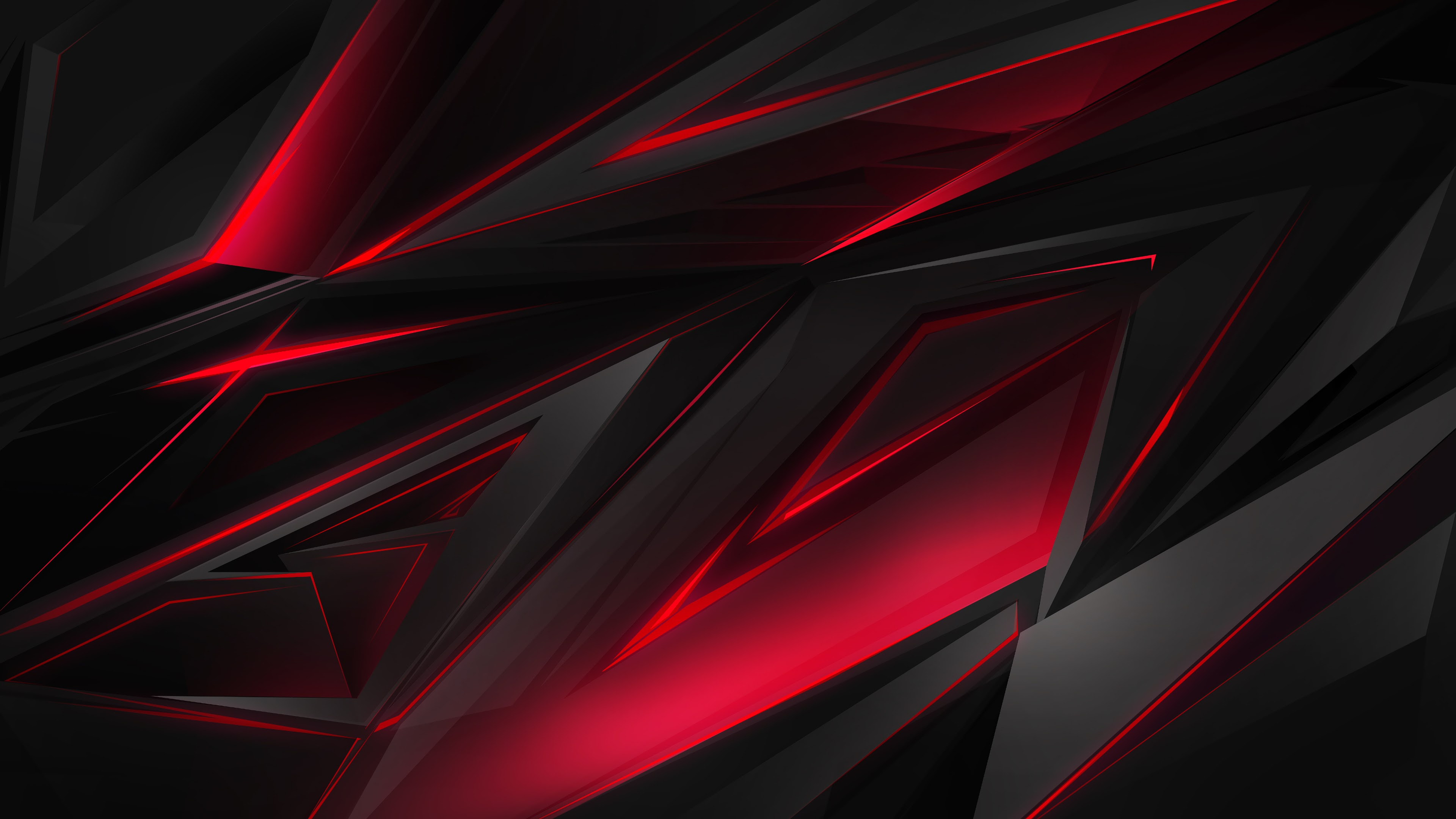 black red abstract polygon