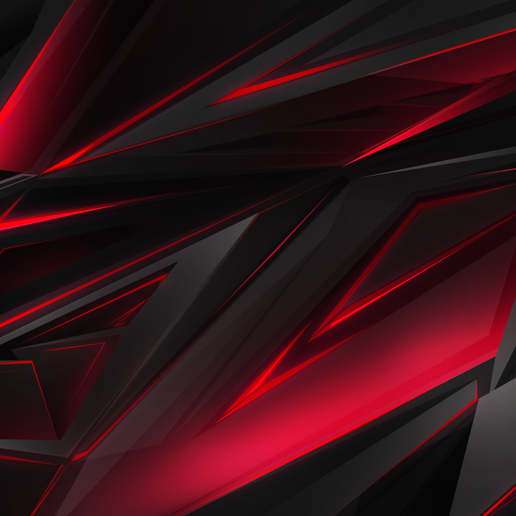 Black, Red, Abstract, Polygon, 3D, 4K, #45 Wallpaper