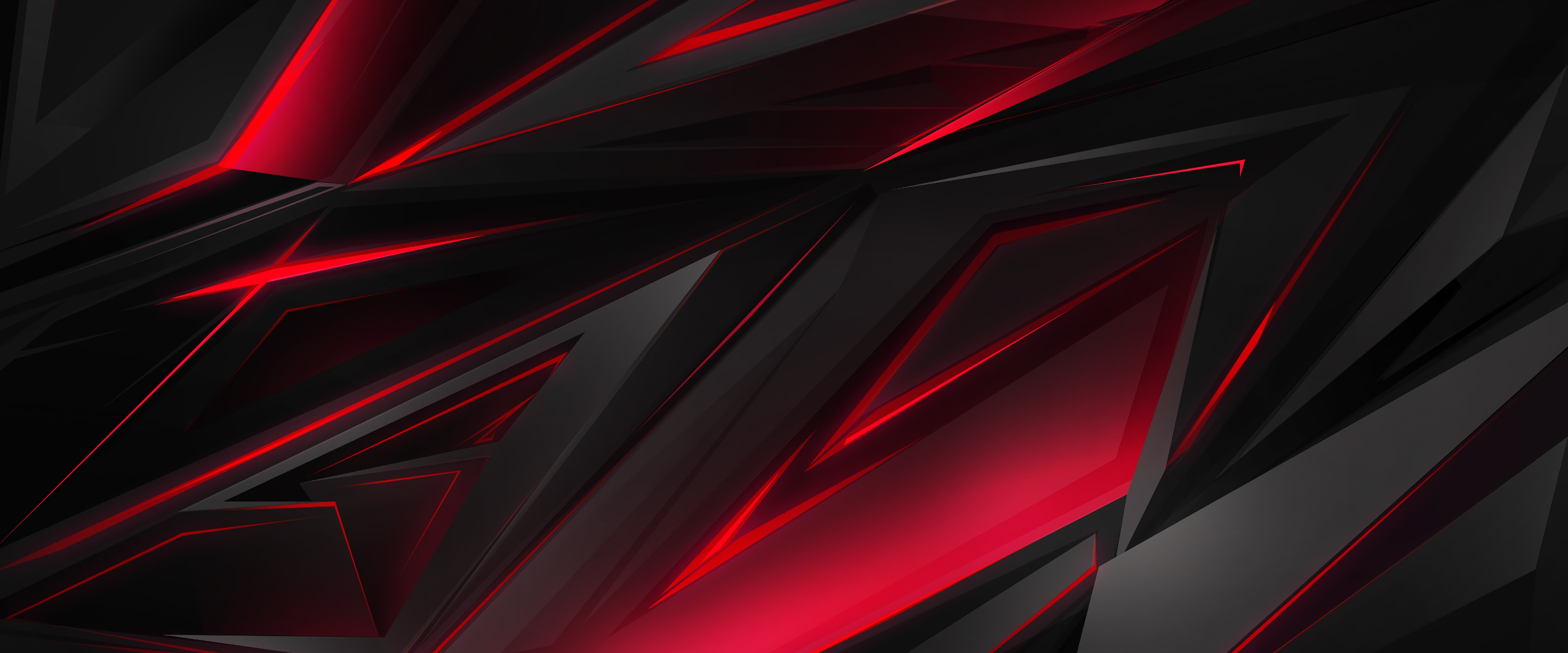 Black Red Abstract Polygon 3d 4k Wallpaper 45