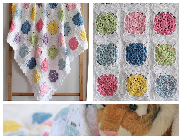 Scrappy Crocheted Baby Blankets