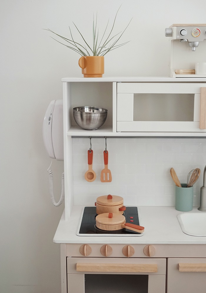 ikea kitchen hack with wall phone