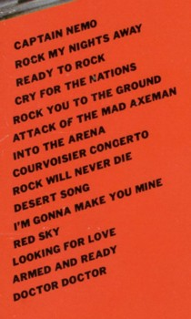 Tracklist (back cover): Hammersmith Live '83 / The Michael Schenker Group
