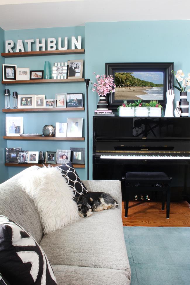 Stylish home security camera floor lamp