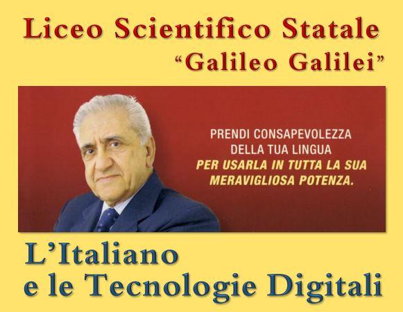 Il Prof. Sabatini, Presidente onorario dell'Accademia della Crusca, incontra gli studenti del Liceo Galilei di Lamezia